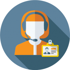 graphic icon to depict front desk customer service using community center software
