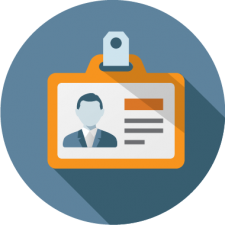 graphic icon of membership ID card to depict membership management software