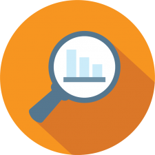graphic icon depicting rec software reporting