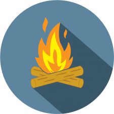 graphic icon depicting camp software