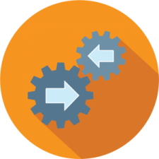Graphic icon to depict recreation software services