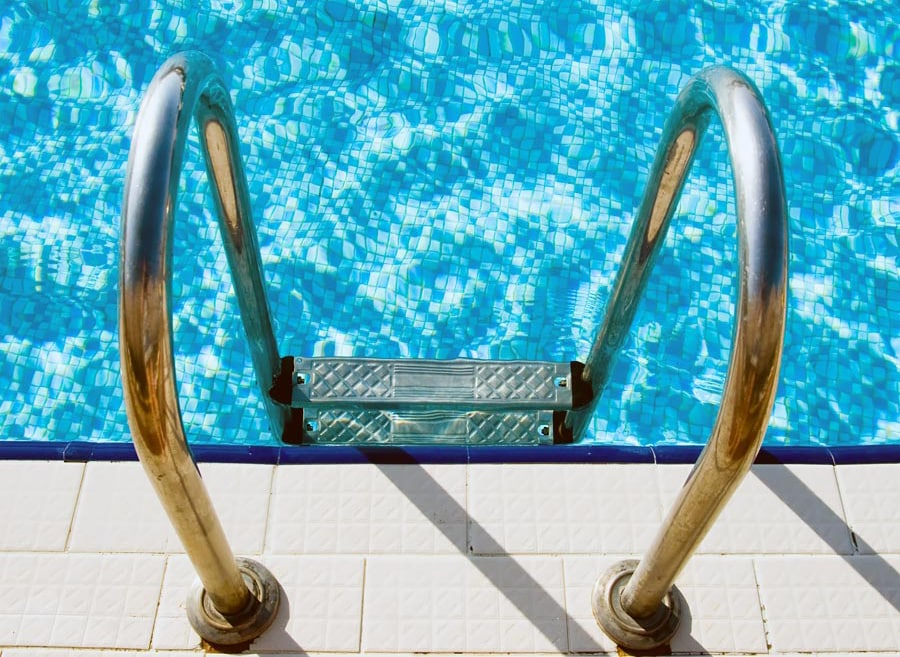 An image of a pool ladder to symbolize Pools and Aquatics Software for Memberships, Online Registration and Management