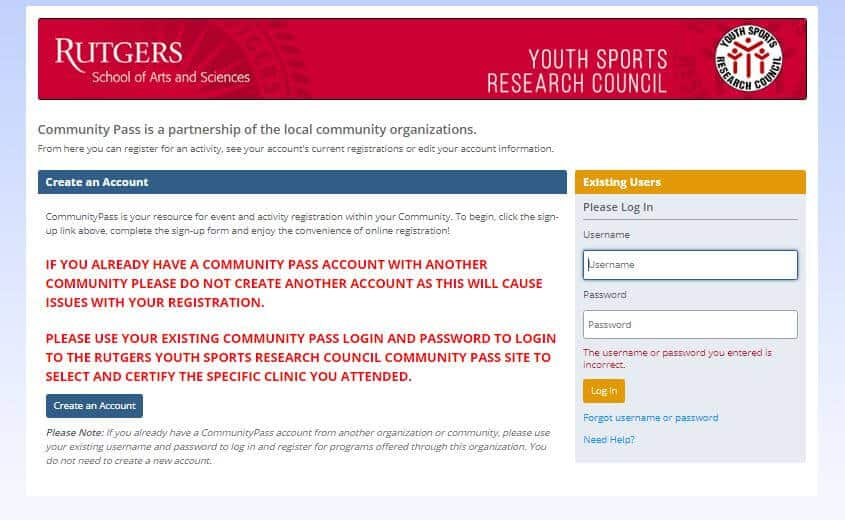 Rutgers trusts CommunityPass as their sports league management software provider.