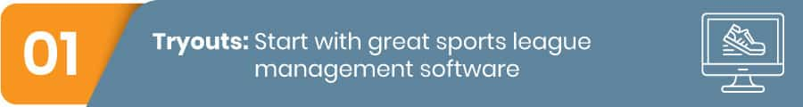 Sports league management software is the first step to running a successful sports league.