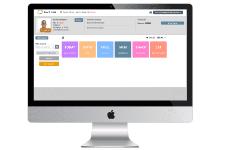 CommunityPass recreation management software offers a dashboard for the front desk.
