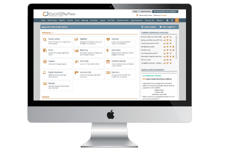 CommunityPass recreation management software dashboard is intuitive and easy to use.