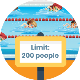 Ensure your pool membership software can handle all capacity limits.